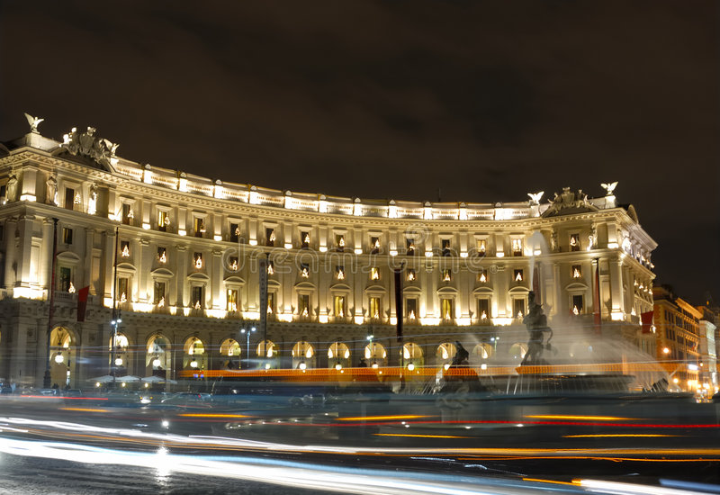Rome By Night Stock Photography
