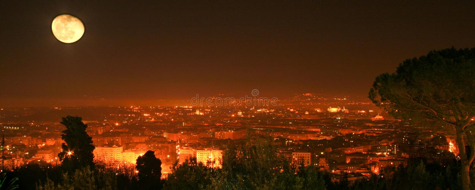Night View Over Rome Royalty Free Stock Photo