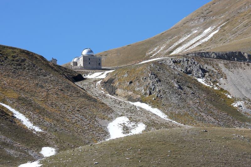 Rome Observatory in Italian Gran Sasso Park stock photos