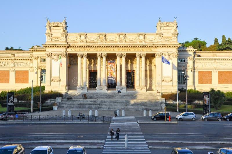 ROME-OCTOBER 6: Den GalleriaNazionale d'Arten Moderna eller National Gallery av modern konst på Oktober 6, 2011 i Rome, Italien. royaltyfri fotografi