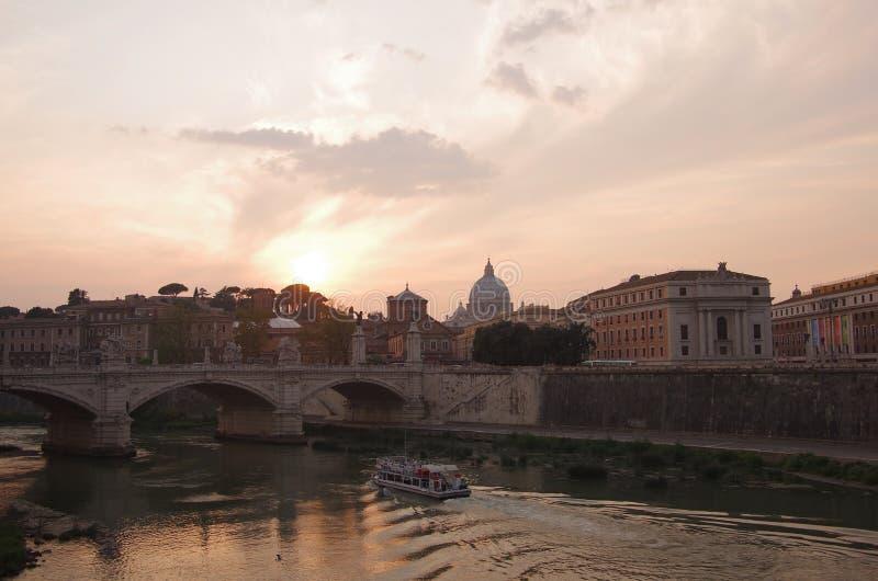 Rome op zonsondergang royalty-vrije stock foto's