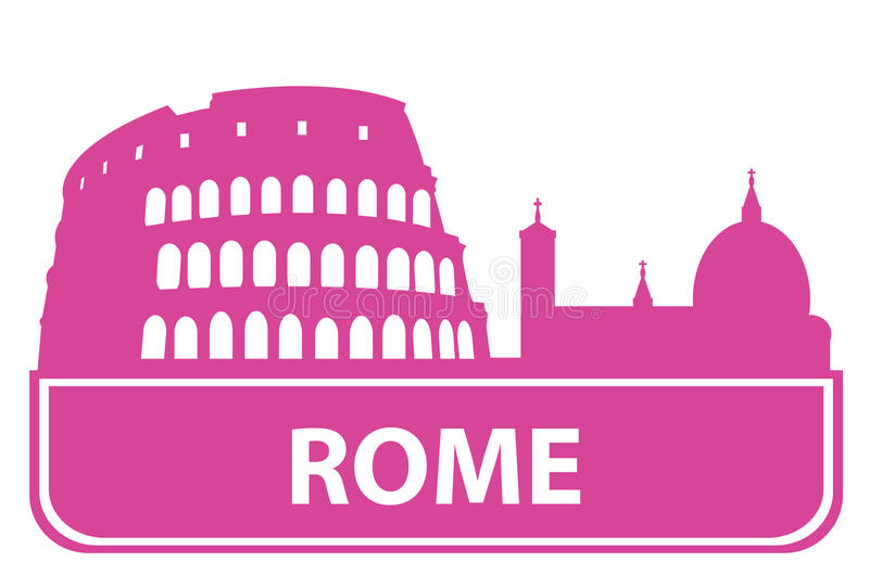 Rome Outline Royalty Free Stock Images