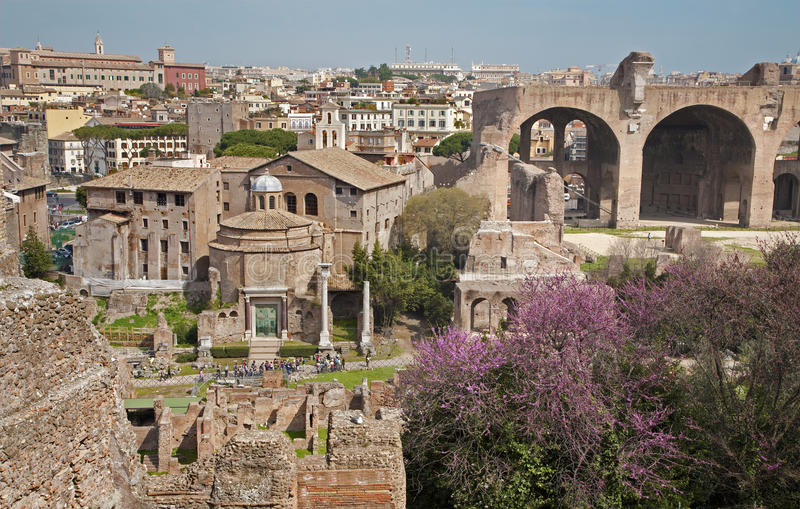 Download Rome - Outlook From Palatne Hill To Forum Romanum Stock Image - Image: 24603277