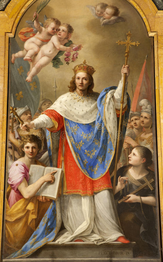 Rome - Paint Of Holy King Of France - Louis IX Editorial Photography