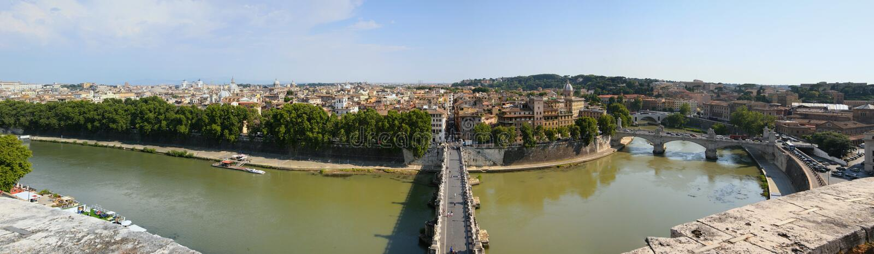 Download Rome Panorama stock image. Image of cloudy, bridge, capital - 15679275
