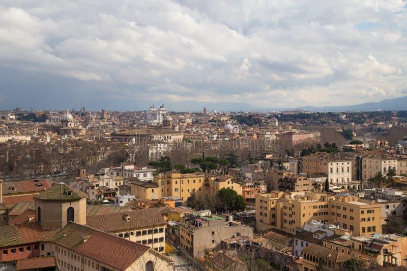 Rome panorama royaltyfria foton