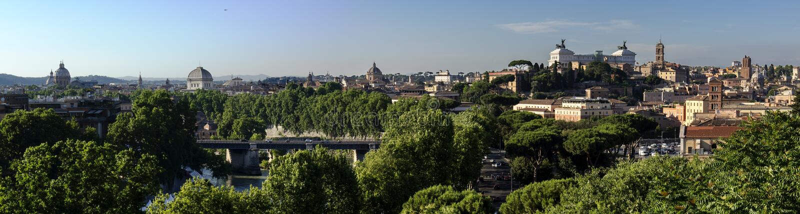 Rome Panorama before dusk royalty free stock image