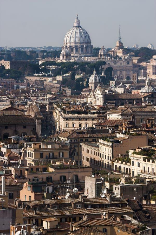 Rome panoramalandskap för flyg- sikt royaltyfria bilder
