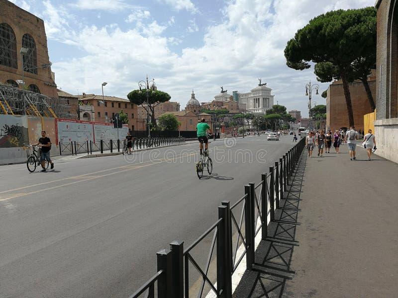 Rome - Panoramic bike stock image