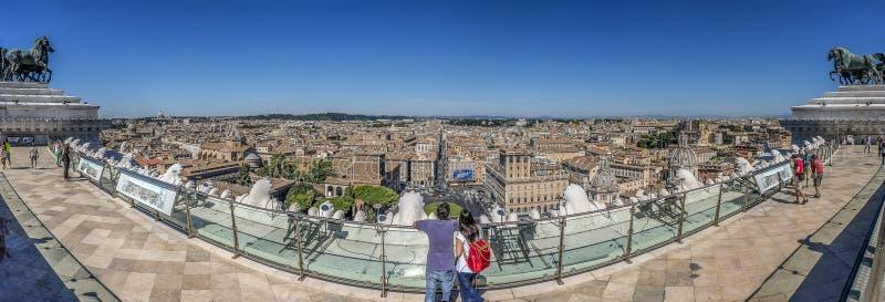 Rome Panorma royaltyfri foto