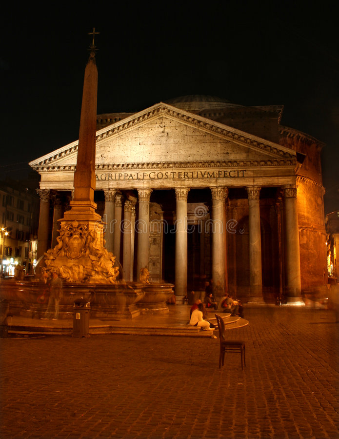 Download Rome - Pantheon stock photo. Image of cupola, fountain - 6892242