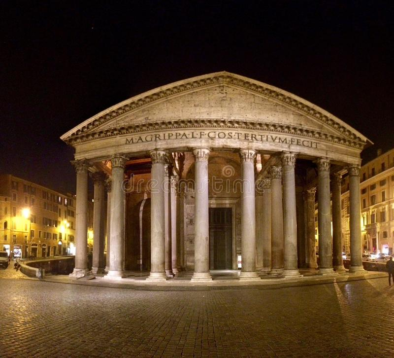 Rome pantheon piazza. Roma centro storico royalty free stock image