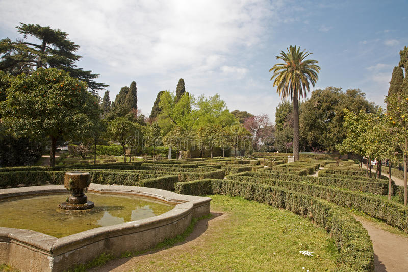 Rome - park from Palatine hill. In midday royalty free stock photography