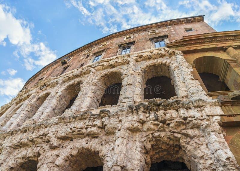rome Piękny widok na arkadzie sławny antyczny Theatre Marcellus (Teatro Di Marcello) zdjęcia royalty free