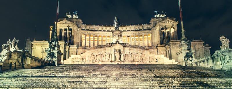 Rome piazza Venezia, altare av fäderneslandet (Vittoriano) arkivfoto