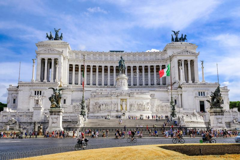 Rome, Piazza Venezia, Vittoriano Autel de della Patria - monument de patrie ou d'Altare de Victor Emmanuel 2, premier roi photographie stock