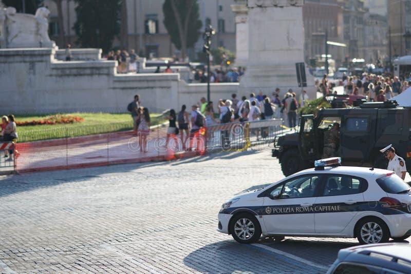 Rome polisbil arkivfoton
