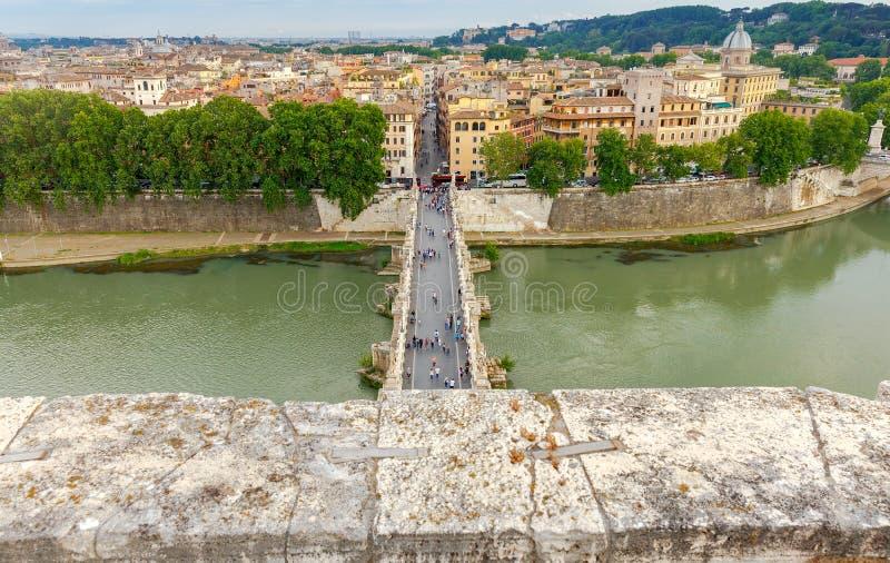 rome Pont des anges saints photo stock