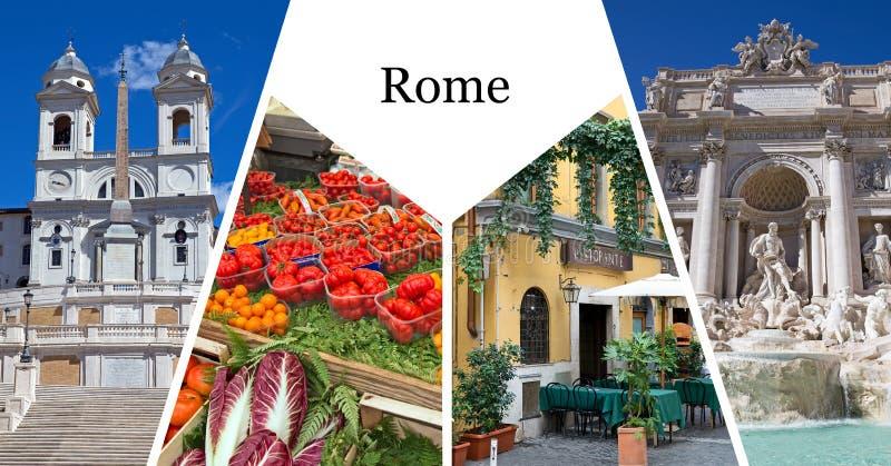 Rome postcard. Postcard with rome city landmark stock image