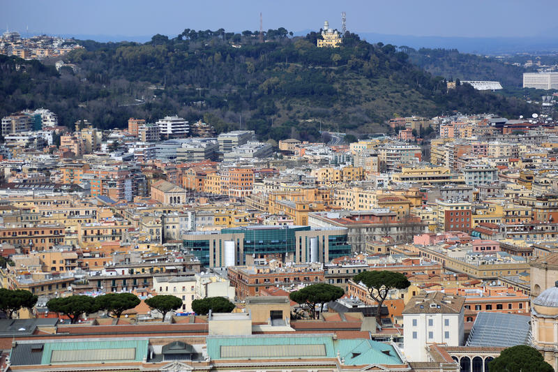 rome powietrzny widok zdjęcia stock