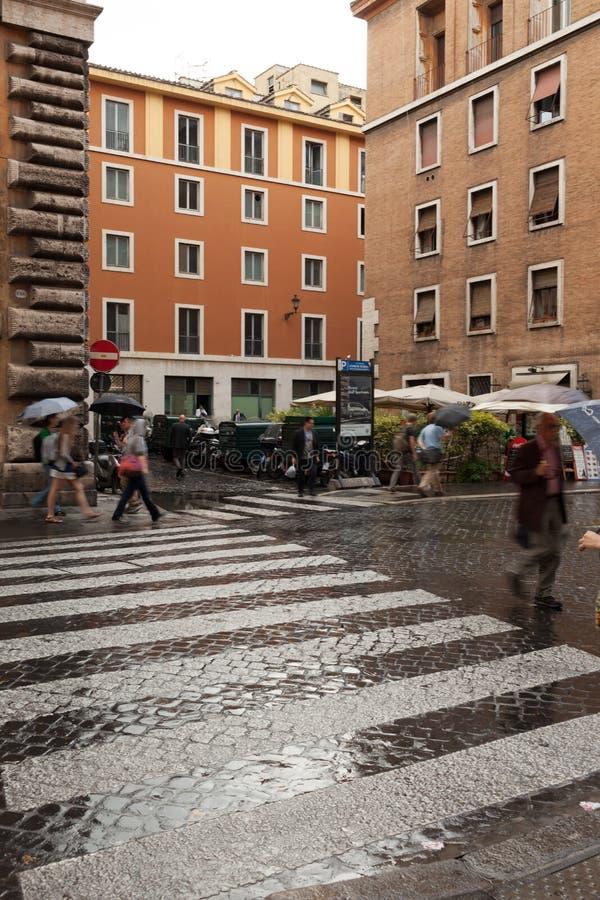 Rome Rain royalty free stock photos