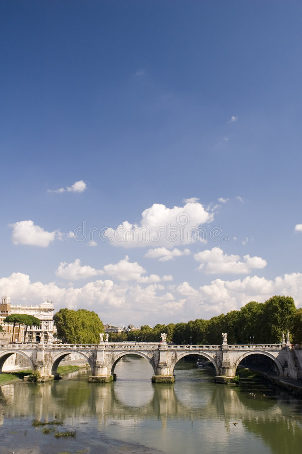 Rome river with bridge stock photos