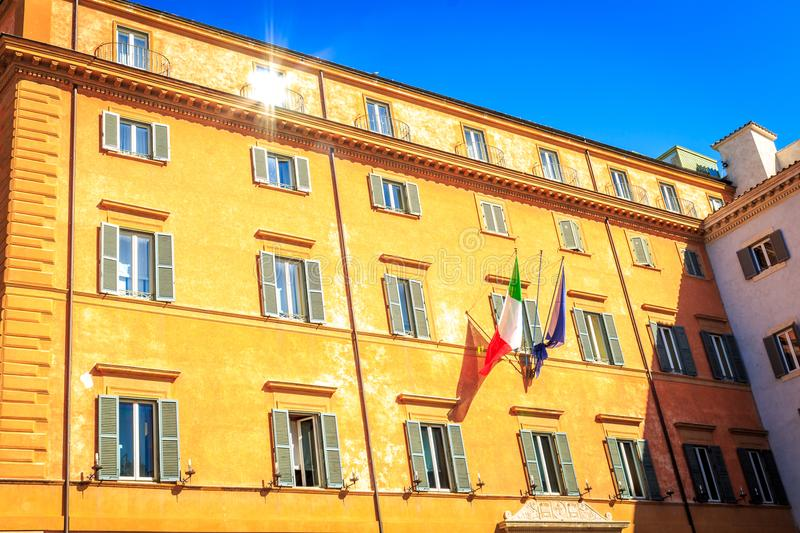 Rome , Roma Italy. An official state building in Rome / Roma in Italy stock photography
