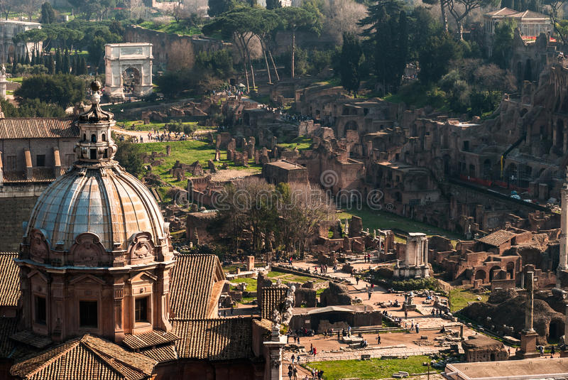 Download Rome, Roman Forum stock photo. Image of italian, city - 25428304