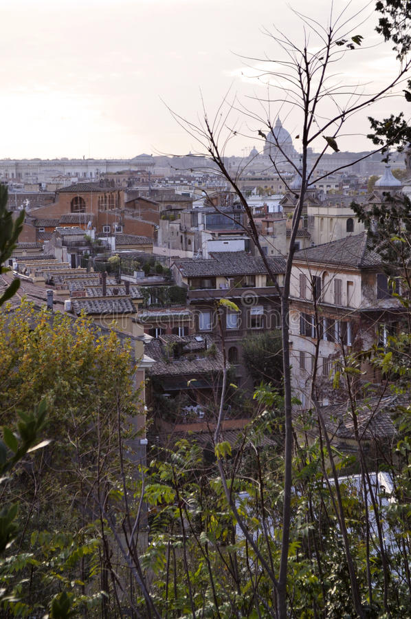Rome roof landscape royalty free stock images