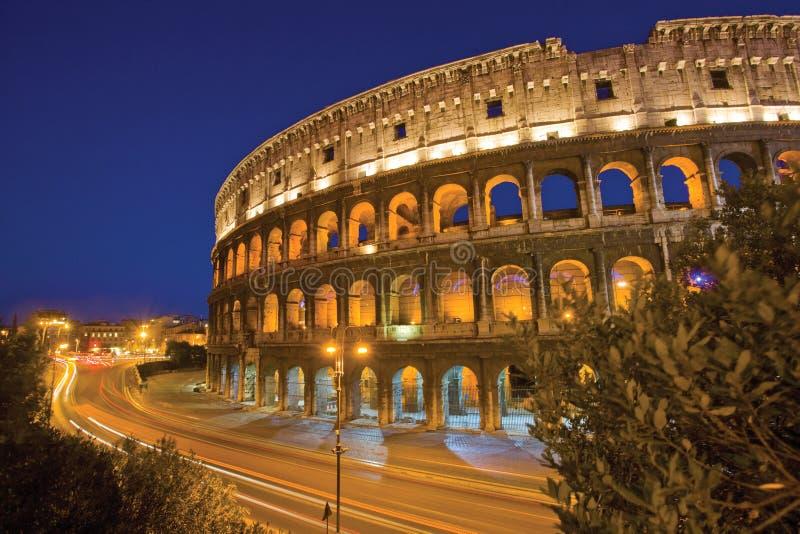 Rome 's nachts Colosseum royalty-vrije stock fotografie