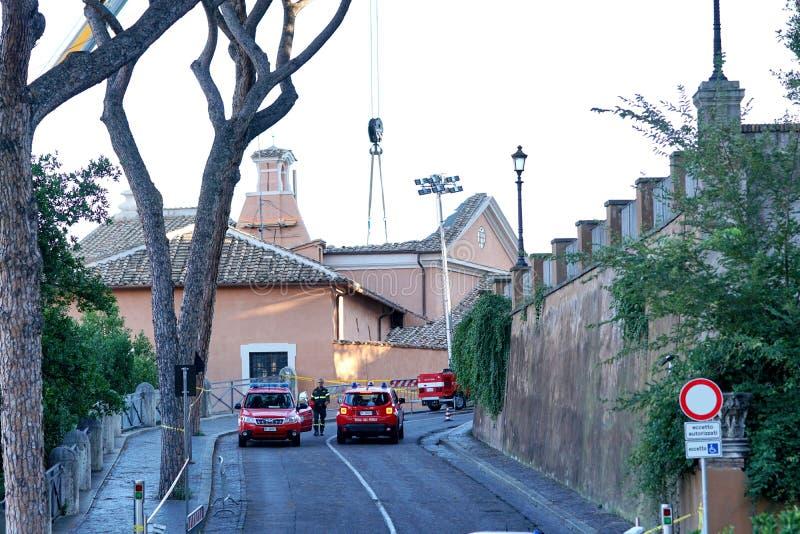 Rome ` s St Joseph van de Timmerlieden` kerk stock foto
