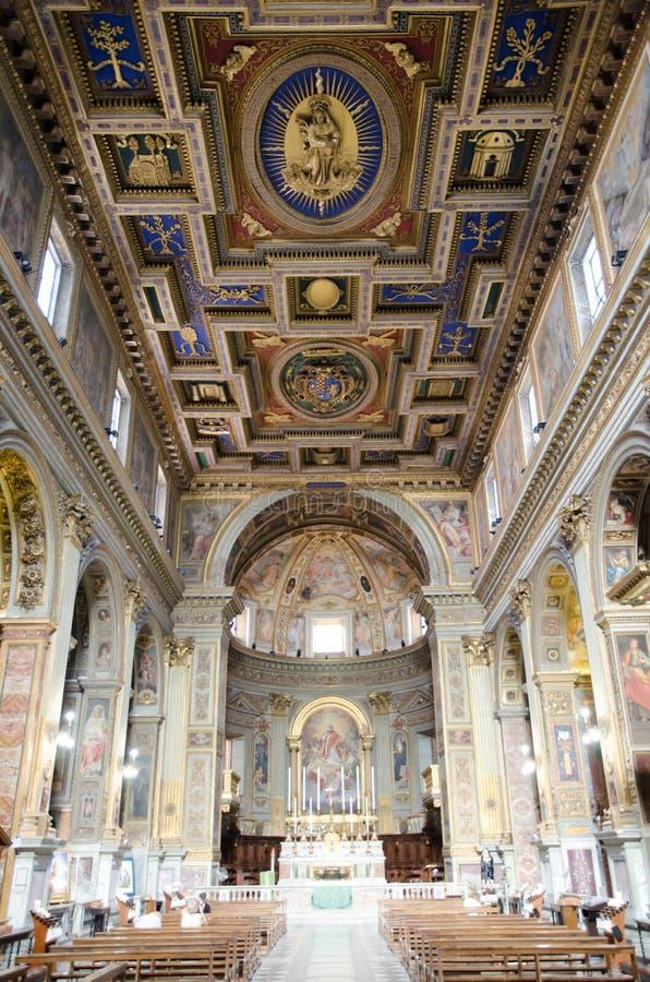 Download Rome San Marcello kyrka fotografering för bildbyråer. Bild av storartat - 76701037