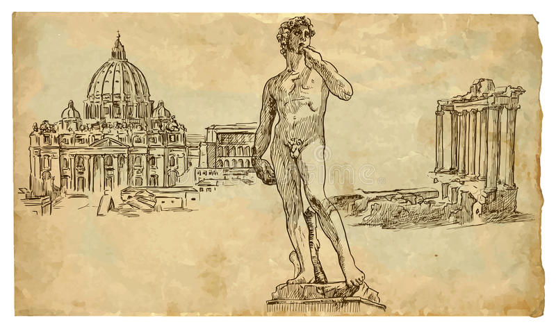 Italy (Rome, Vatican And Florence) Stock Images