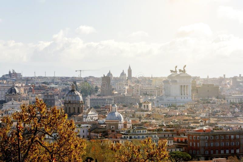 Rome sikt från den Gianicolo kullen royaltyfria foton