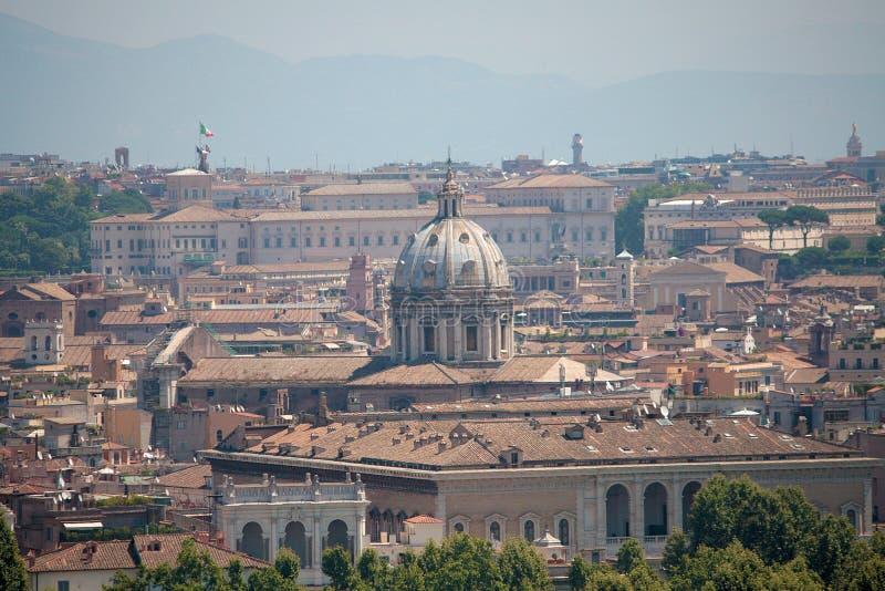 Rome sikt från Gianicolo arkivfoto
