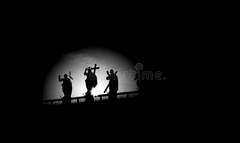 Download Rome - Silhouette Of Jesus From Colonnade Stock Photo - Image: 26838360