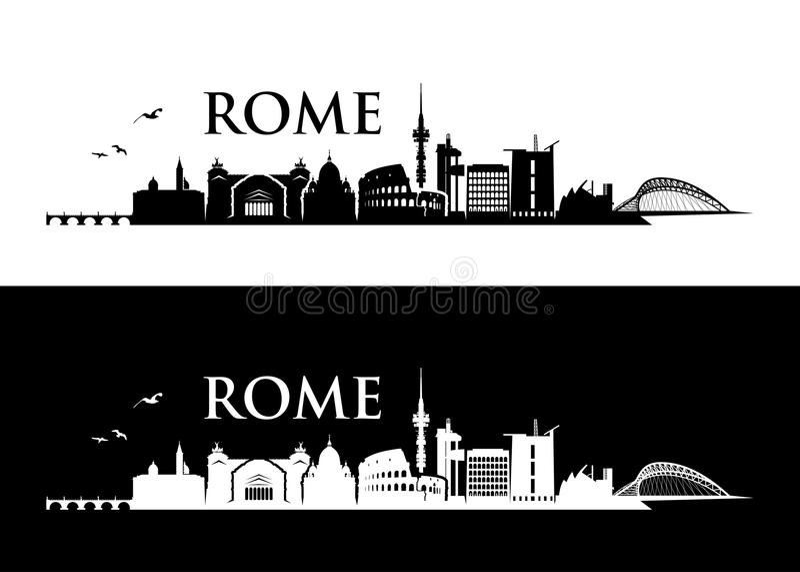 Rome skyline - Italy - vector illustration stock illustration