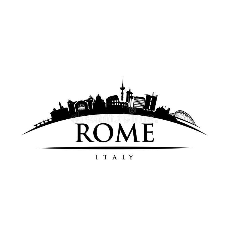 Rome skyline - Italy - vector illustration. Rome skyline - Italy - Europe sign stock illustration
