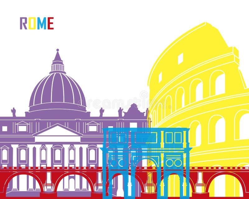 Rome skyline pop royalty free illustration