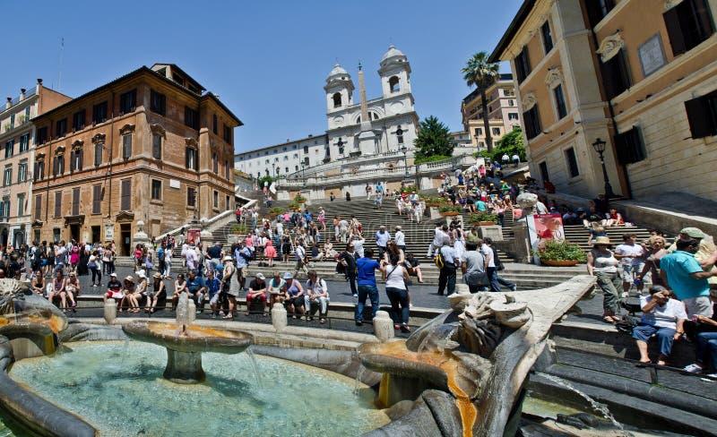 Rome - Spaanse stappen stock afbeeldingen