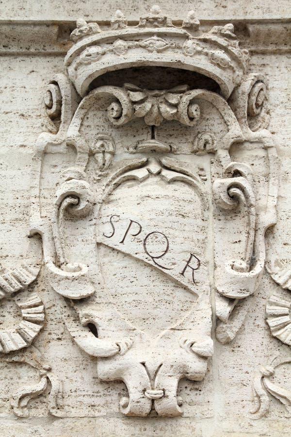 rome spqr arkivbilder