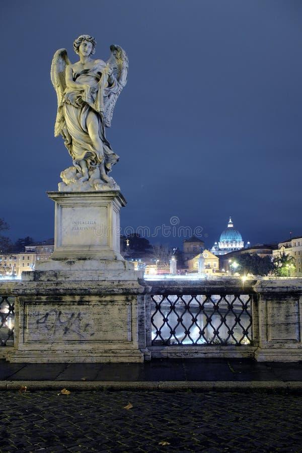 Rome, St Angelo Bridge stock afbeelding