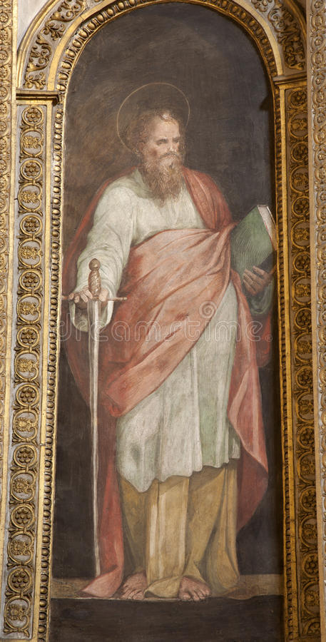 ROME - St. Paul the apostle paint royalty free stock image