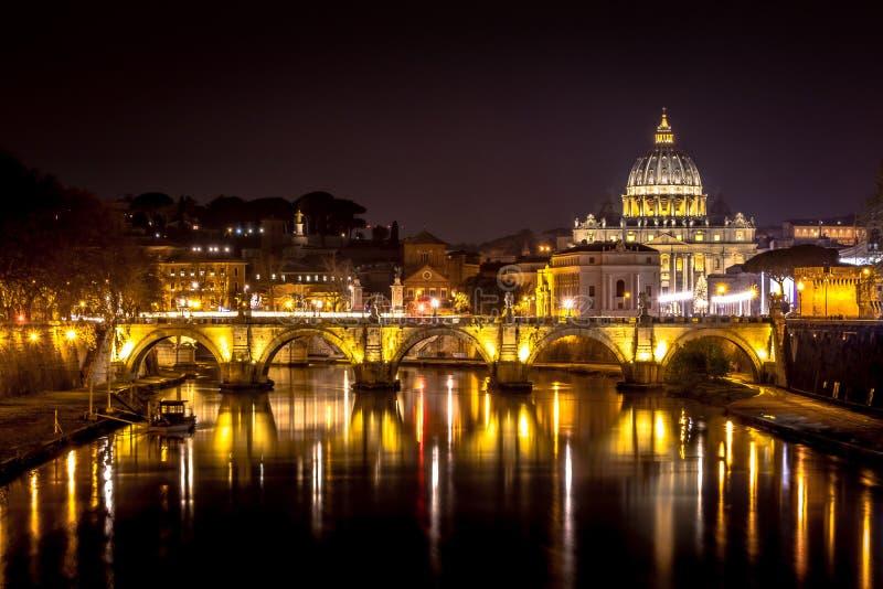 Rome, St. Peter`s Basilica stock image