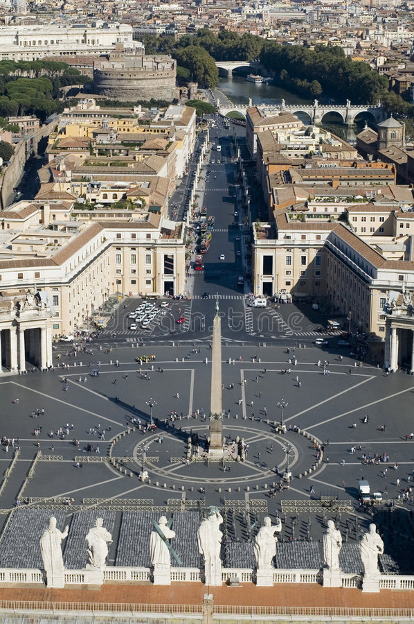 Rome St. Peter Square royalty free stock image