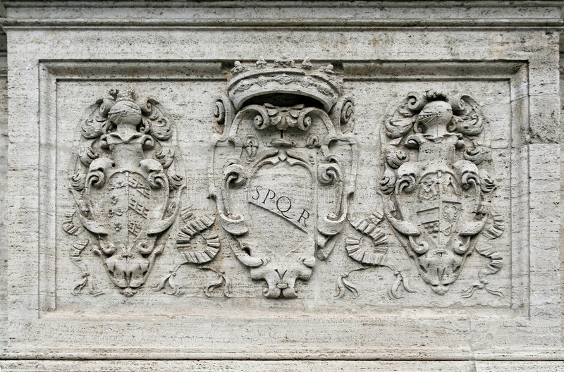 rome symbol royaltyfria bilder