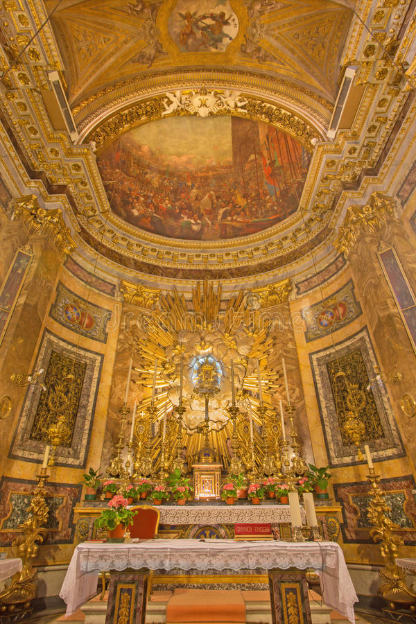 Free Rome - The Presbytery In Church Chiesa Di Santa Maria Della Vittoria Royalty Free Stock Photo - 66024445