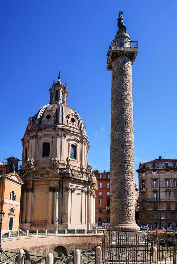 Rome, Trajan Column, Italy royalty free stock photos