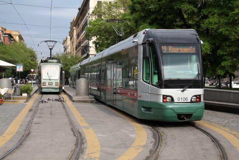 rome tramwaj zdjęcia stock