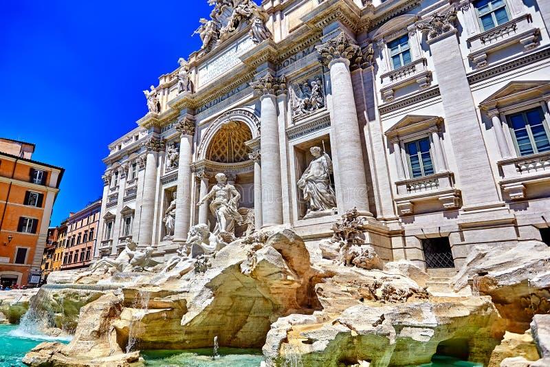 Rome Trevi Fountain, Fontana di Trevi in Rome, Italy. The Rome Trevi Fountain, Fontana di Trevi in Rome, Italy. Trevi is most famous fountain of Rome royalty free stock photo